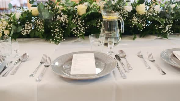 Thumbnail for Beautiful Serving Exquisite Wedding Table at the Exquisite Banquet