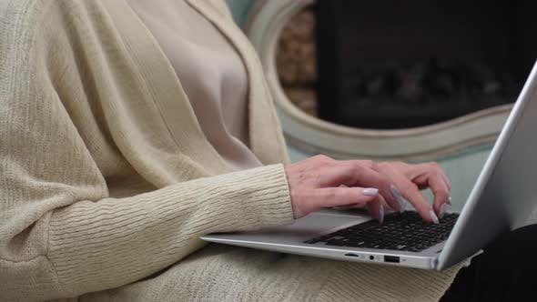 Thumbnail for Woman Typing on Laptop