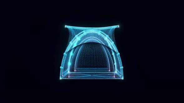 Tent Hologram 4k