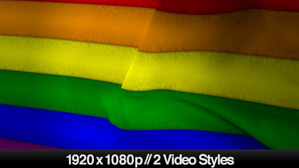 Thumbnail for Gay Pride Rainbow Flag - 2 Styles
