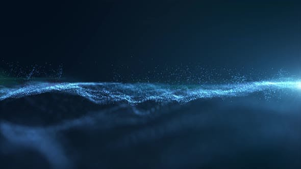 Futuristic Flowing Particles Wave