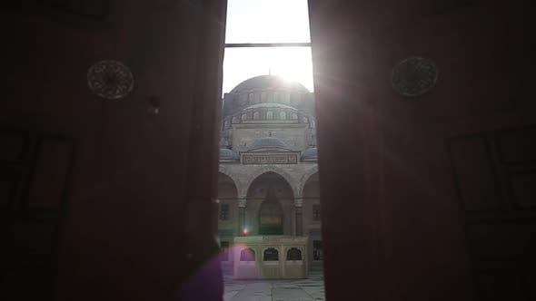 Thumbnail for Ottoman Mosque Minarets And Big Hall Sunset