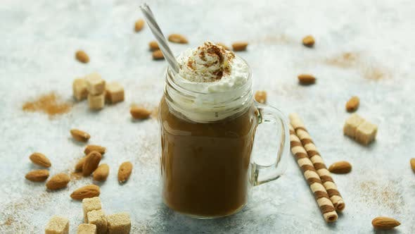 Thumbnail for Cup of Cacao with Whipped Cream and Caramel