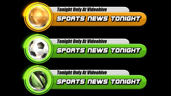Thumbnail for Sports Broadcast Lower Third Pack