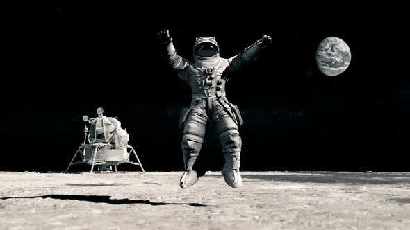 Thumbnail for Mond Schwerkraft Astronaut