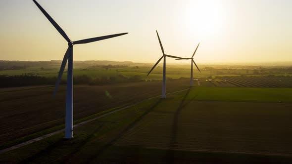 Thumbnail for Wind Farm at Sunrise