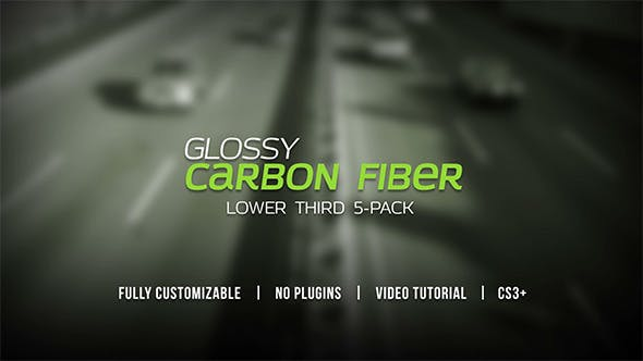 Thumbnail for Glossy Carbon Fiber Lower Thirds