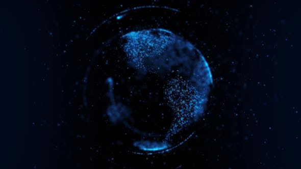Particle Earth Hologram 4K