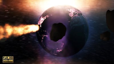Earth Colliding with Asteroids