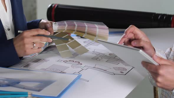 Designers Working on Colors for Interior