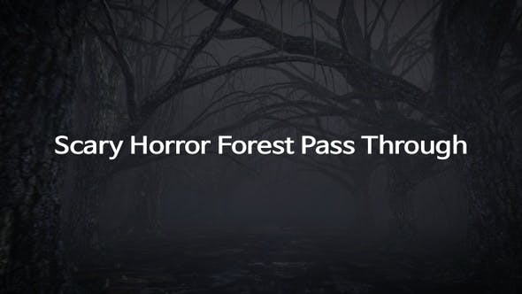 Scary Horror Forest Pass Through
