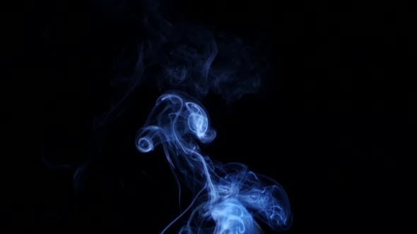 Thumbnail for Blue Smoke on Black Background