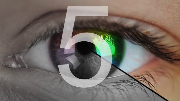 Thumbnail for Eye Close-Up And Countdown