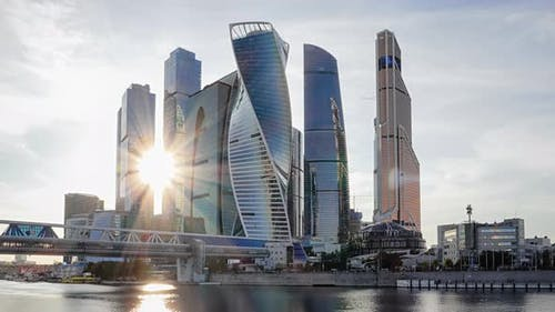 Moscow City Business Center Timelapse