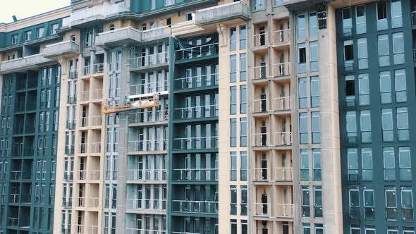 Thumbnail for Construction of a modern building in the city.