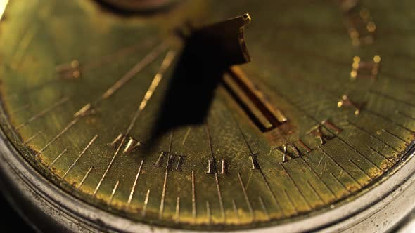 Thumbnail for Dial of a Sundial on a White Background. Close Up