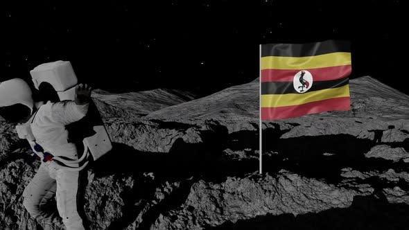 Thumbnail for Astronaut Planting Uganda Flag on the Moon