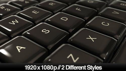 Computer Keyboard Closeup on Keys - Typing & Pan