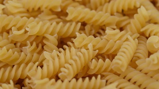 Thumbnail for Dry uncooked fusilli close up