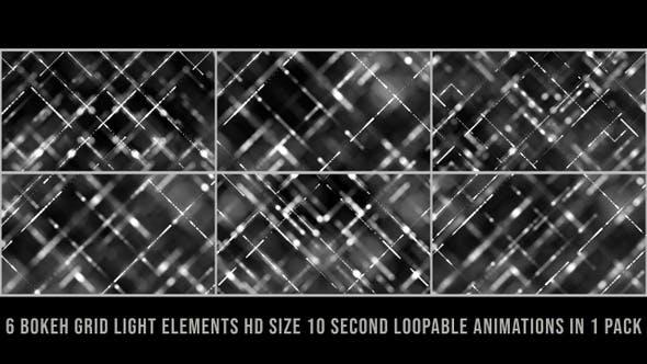 Thumbnail for Bokeh Grid Lights Gray Pack