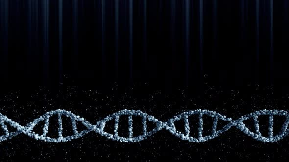 Cover Image for Moving Blue DNA Molecule with Particles