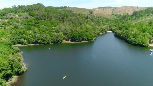 Thumbnail for View on the Lake and Boats - Water Sports Aerial