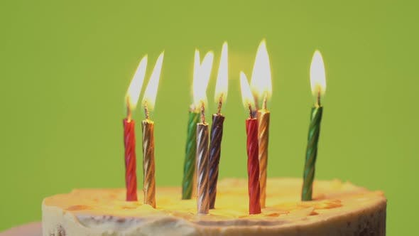 Thumbnail for Burning Candles in Birthday Cake