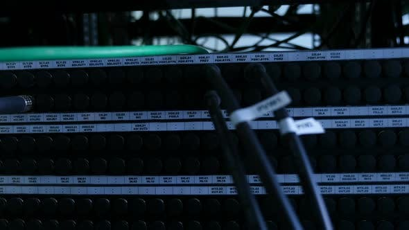 Thumbnail for Technology Center Network Server Room. Network Cables Connected To Ports.