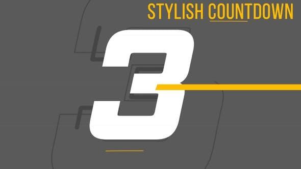 Stilvoller Countdown
