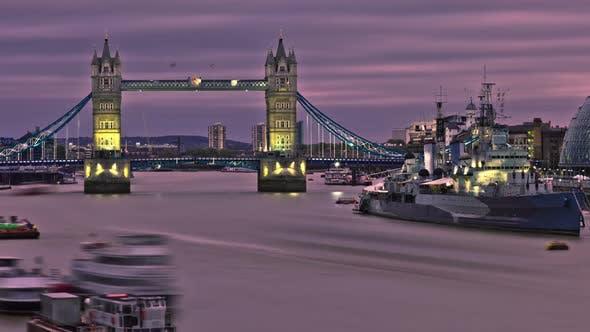 Thumbnail for HDR-Zeitraffer der Tower Bridge in London