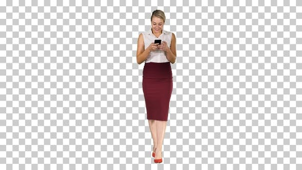 Successful Female Employer Typing Text Message on Her Cellphone