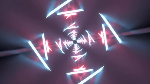 3D Abstract Seamless Neon Lights Looping