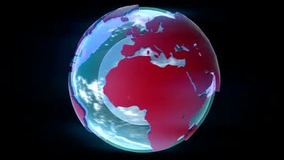 CG Earth rotating globe