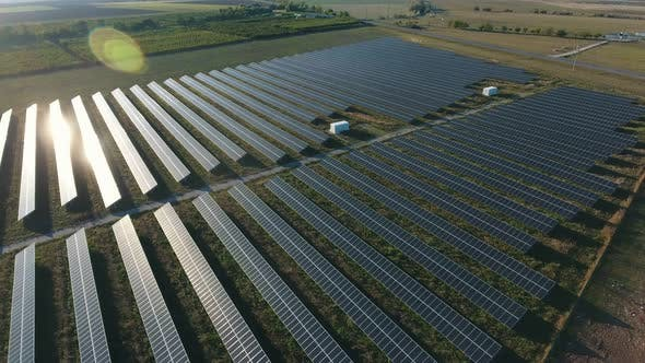 Thumbnail for Aerial Shot of a Solar Power Station with Many Rows of Solar Panels in Ukraine