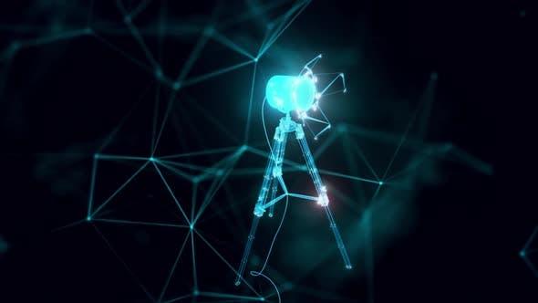 Studio-Licht-Hologramm Nahaufnahme hd