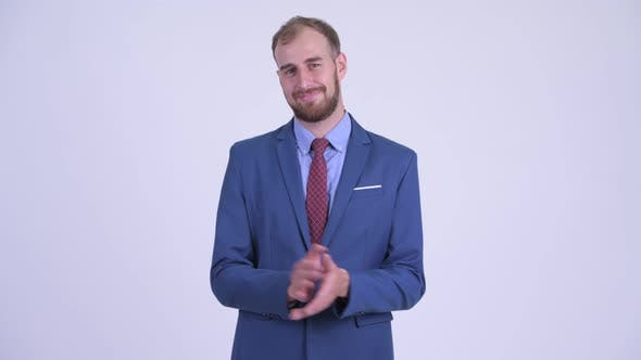 Thumbnail for Happy Bearded Businessman Clapping Hands