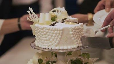 Wedding Cake During Wedding Recetion