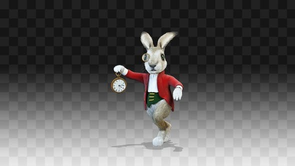 Rabbit Oliver Running Late