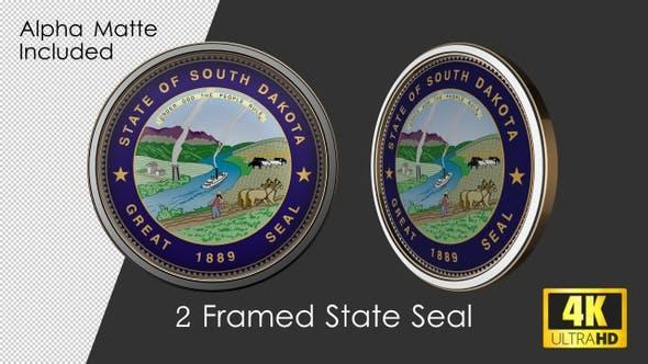 Framed Seal Of South Dakota State