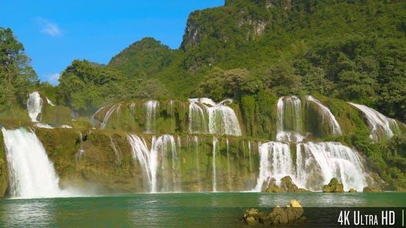 Thumbnail for 4K Ban Gioc Detian Waterfall in Vietnam Southeast Asia