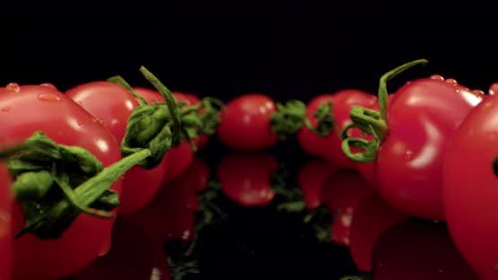 Thumbnail for red coktail tomatoes super macro