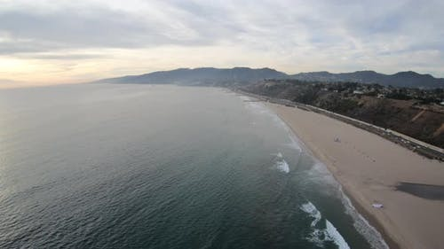 Will Rogers State Beach Pacific Palisades California Aerial View