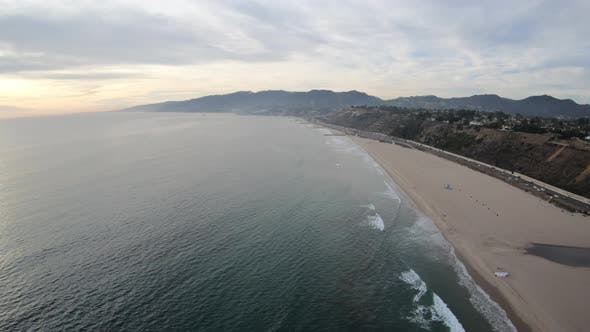 Thumbnail for Will Rogers State Beach Pacific Palisades California Aerial View