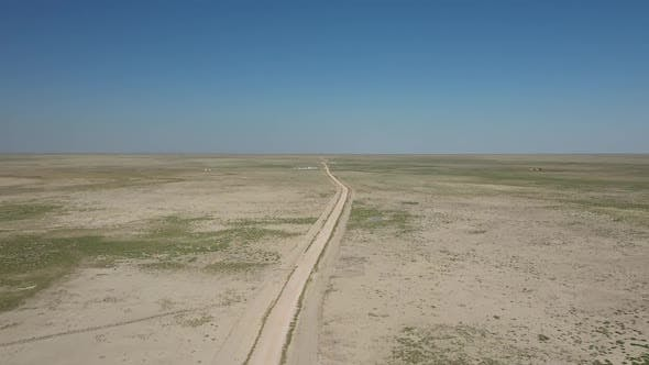 Thumbnail for Vast Plains And Road Aerial View