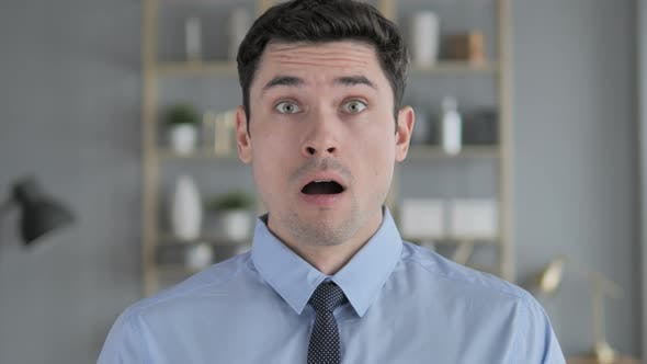 Thumbnail for Portrait of Amazed, Surprised Young Man Wondering