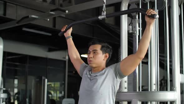 Thumbnail for Asian Sportsman Doing Physical Exercises
