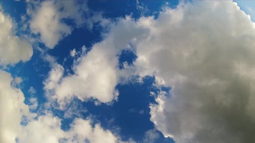 Wide Angle Cloudscape Timelapse From Below