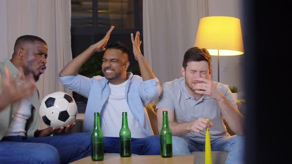 Thumbnail for Friends with Ball and Vuvuzela Watching Soccer