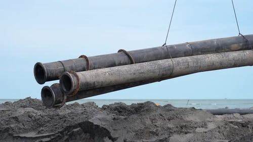 Heavy Pipes for Sand Nourishment to the Sea