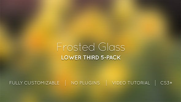 Frosted Glass Lower Thirds